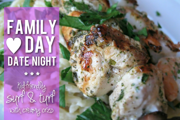 Lemon Pepper Shrimp & Chicken Skewers with Creamy Parmesan Orzo - (cool) progeny