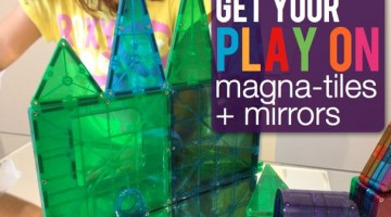 Magna-Tiles and Mirrors - (cool) progeny