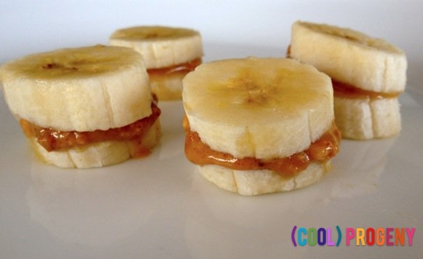 Healthy Snacks: Mini Banana Sandwiches
