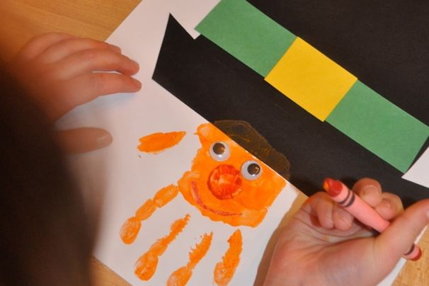 Handprint Leprechaun Craft - (cool) progeny