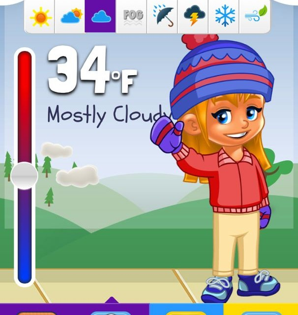 Kid Weather App - (cool) progeny