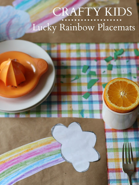 Crafty Kids: Rainbow Placemats - (cool) progeny
