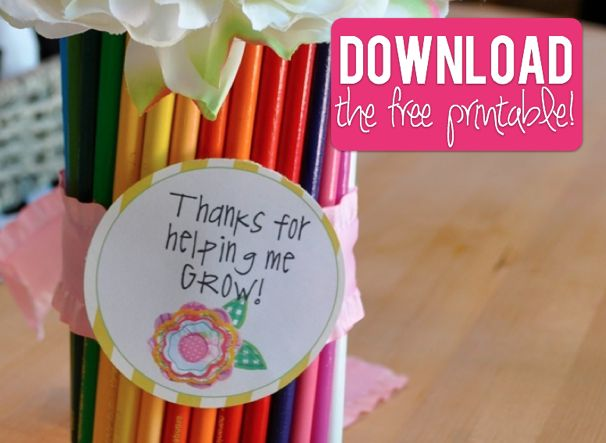 "Download the ""Thanks for Helping Me Grow"" FREE Printable"