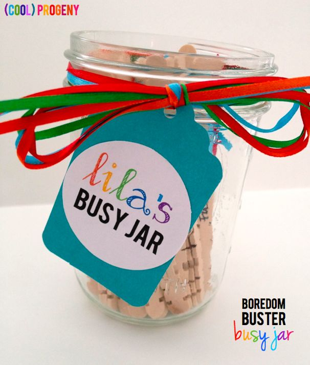 Boredom Buster: Busy Jar - (cool) progeny