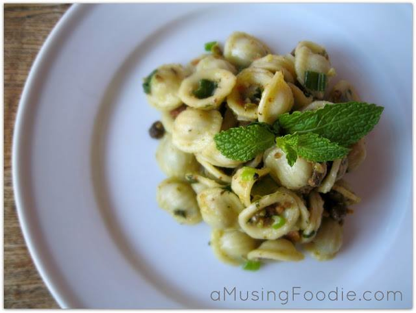 Easy Weeknight Meals - Orecchiette with Parmesan & Pistachios, (cool) progeny