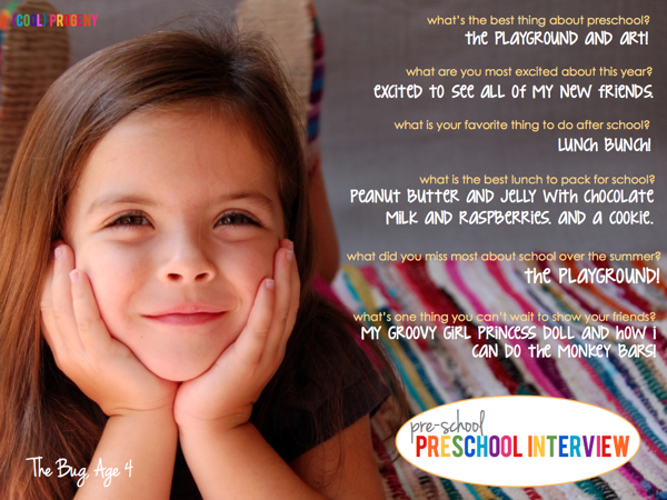 The Pre-Preschool Interview: Capture the Moment - (cool) progeny