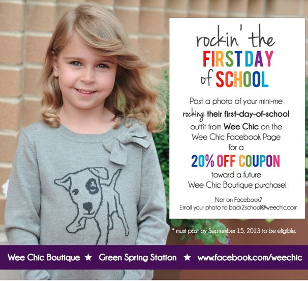 Rock Back To School with Wee Chic - (cool) progeny