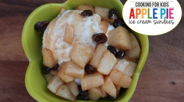 Cooking with Kids: Apple Pie Sundaes. Fall Flavors + #DeliciousMoment on (cool) progeny