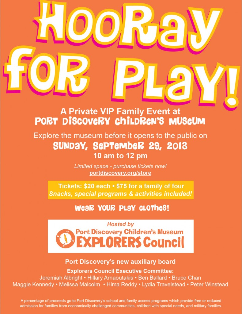Port Discovery - Hooray for Play!