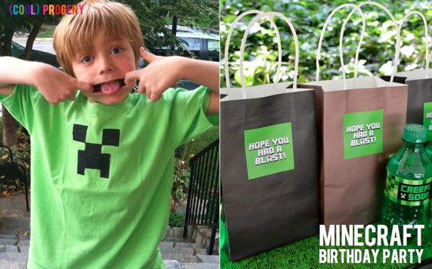 Minecraft Birthday Party - (cool) progeny