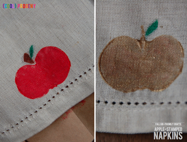 How to Make Apple-Stamped Napkins - Perfect #Kid Craft! - (cool) progeny