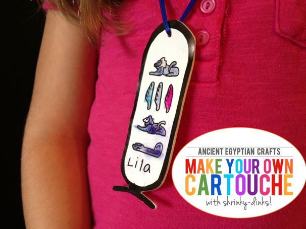 explore ancient egypt make a shrinky dink cartouche   cool progeny