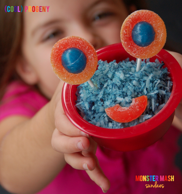 Monster Mash Sundaes - Perfect for #Halloween and #Birthday Parties! See more at (cool) progeny