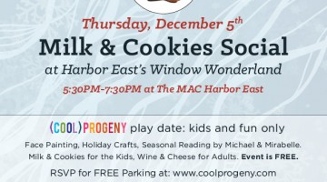 (cool) progeny Milk and Cookies Social at MAC Harbor East