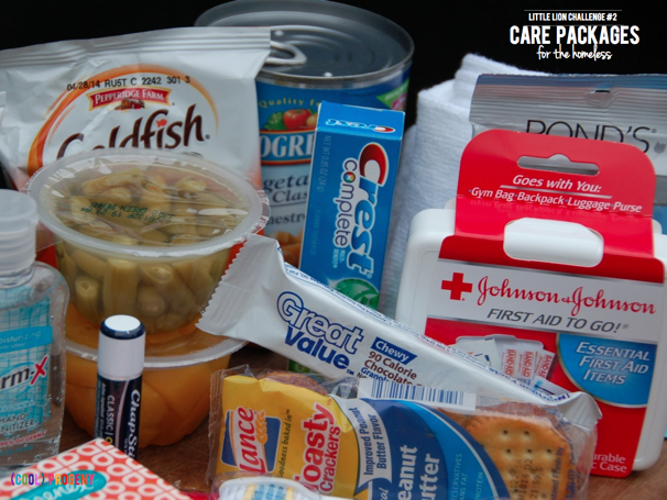 How to Make Homeless Care Packages - Little Lion Challenge