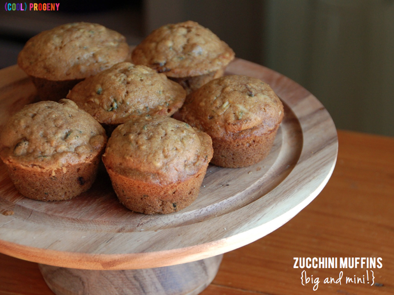 Zucchini Muffins (for Big Kids AND Minis!) - (cool) progeny