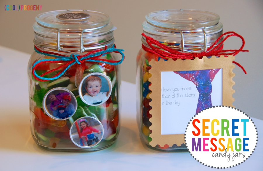 How To Make Secret Message Candy Jars - (cool) progeny