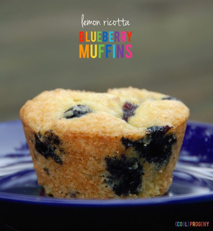 Lemon Ricotta Blueberry Muffins - (cool) progeny