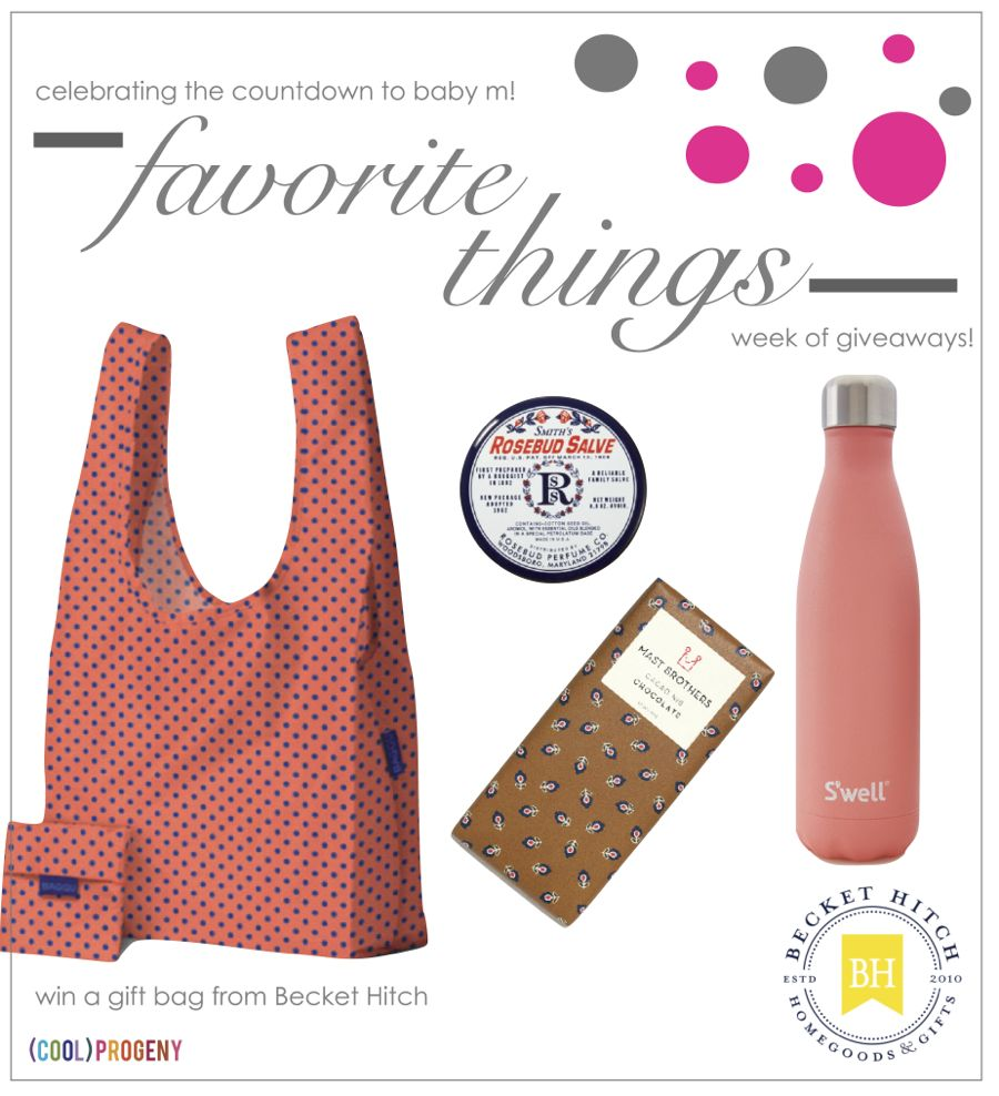 Favorite Things #Giveaway! Becket Hitch Gift Bag - (cool) progeny