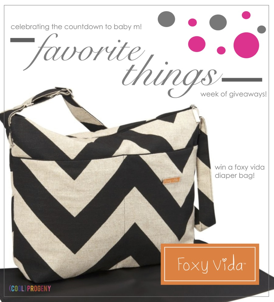 Favorite Things #Giveaway! Foxy Vida Diaper Bag - (cool) progeny