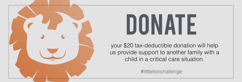 DONATE to the Little Lion Challenge! - #littlelionchallenge