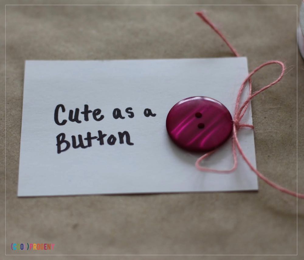 DIY Cute as a Button Valentines for Kids - (cool) progeny
