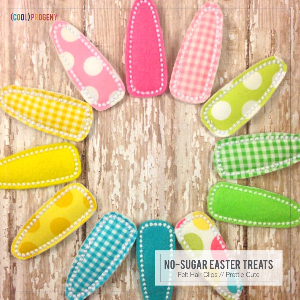 Easter Treats Without the Sweet: Spring Felt Barrettes, Prettie Cute Boutique