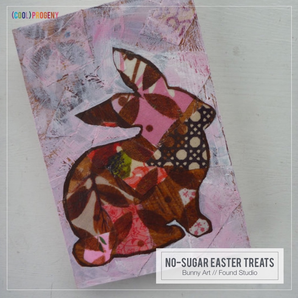 Easter Treats Without the Sweet: Mixed Media Bunny Art, Found Studio