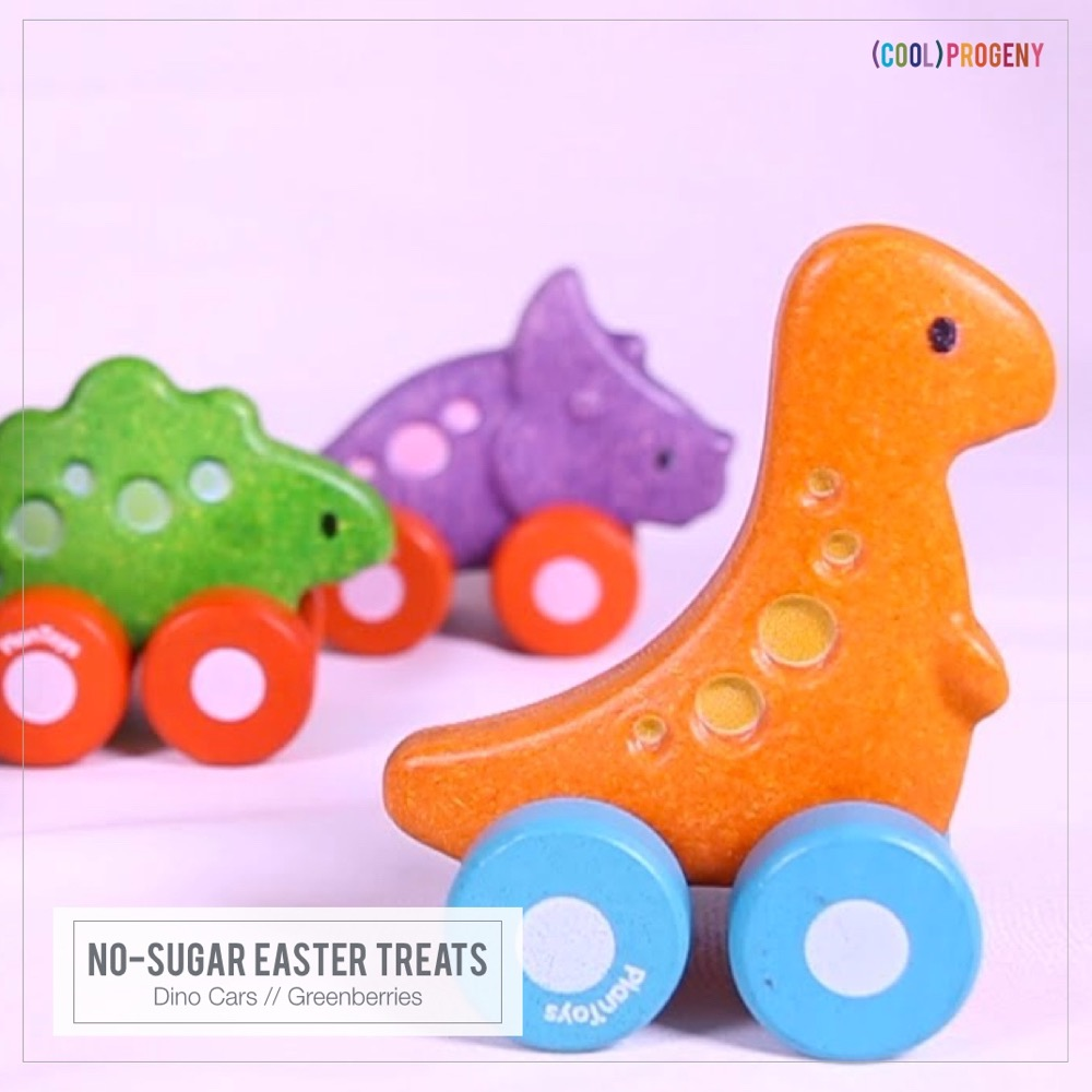 Easter Treats Without the Sweet: Dino Cars, Greenberries