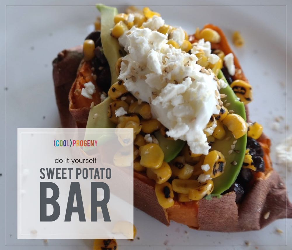 family dinner fun! diy sweet potato bar - (cool) progeny #meals #coolprogeny #dinner #familymeal