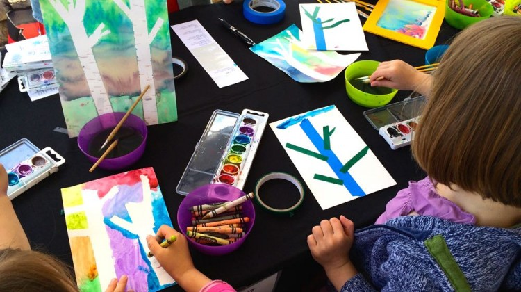 Kids Art Exploration Area @ Art Outside, hosted by (cool) progeny