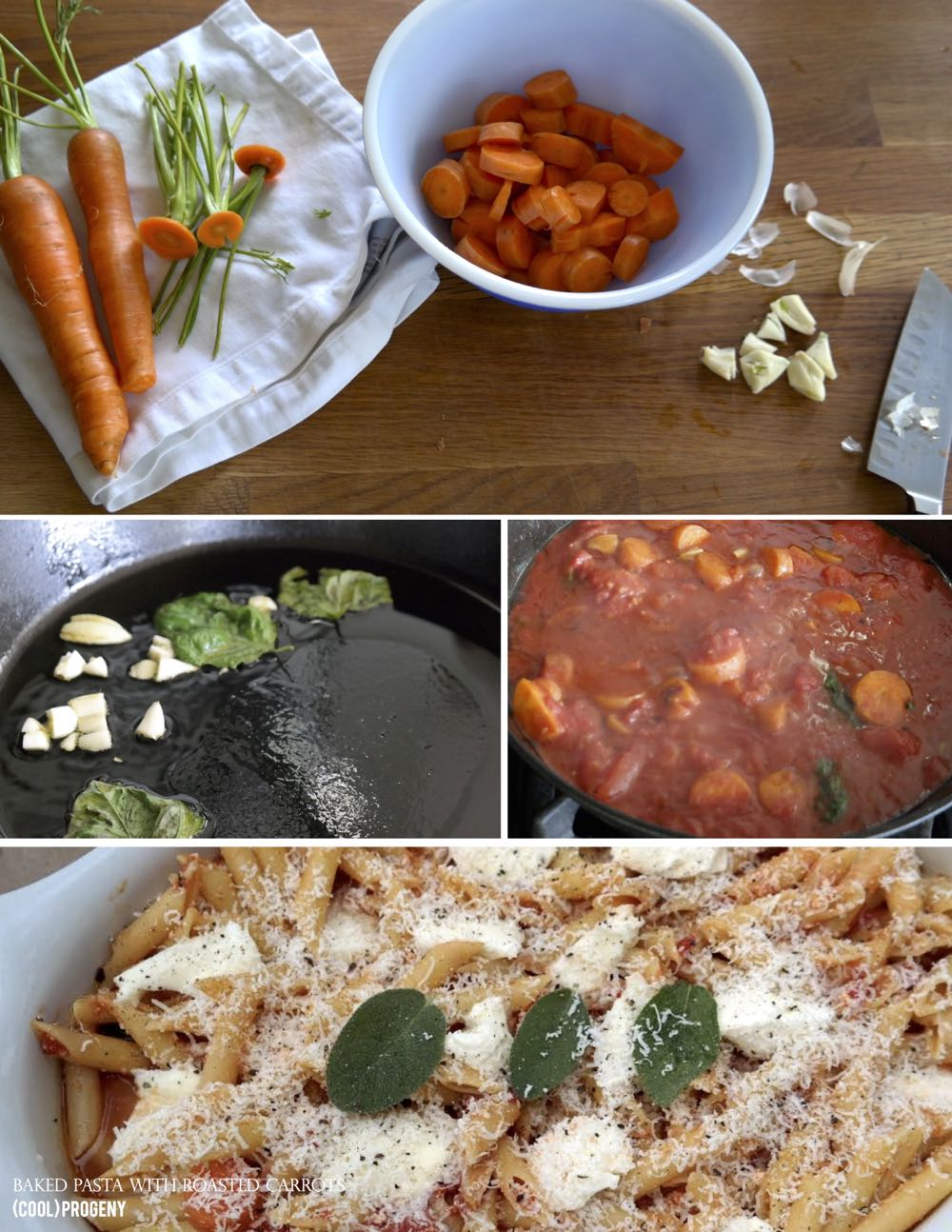 Baked Pasta with Roasted Carrots - (cool) progeny