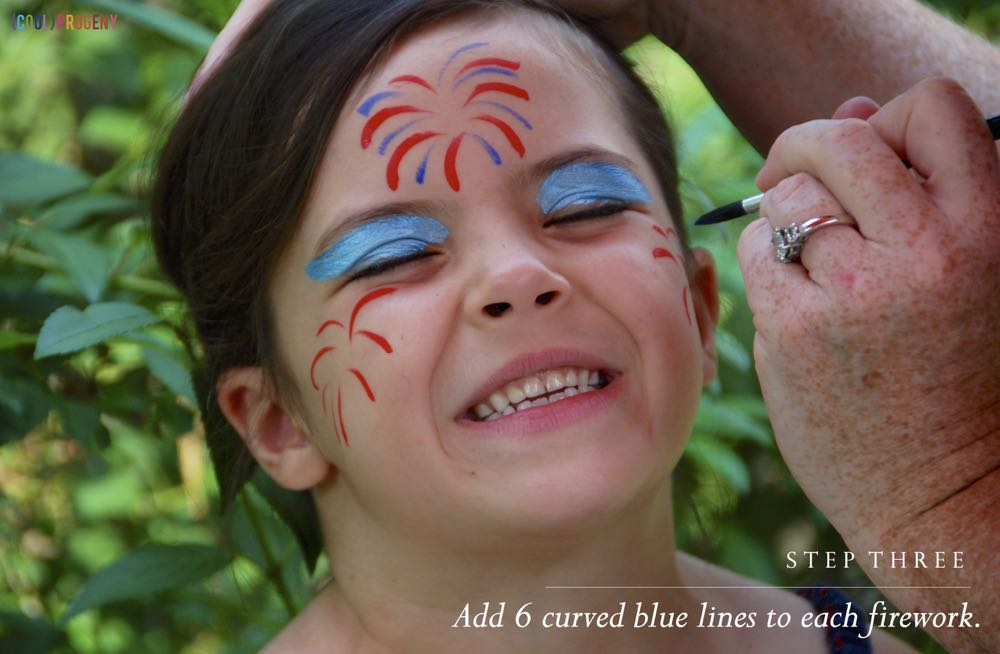 Fireworks Face Painting Tutorial  - (cool) progeny