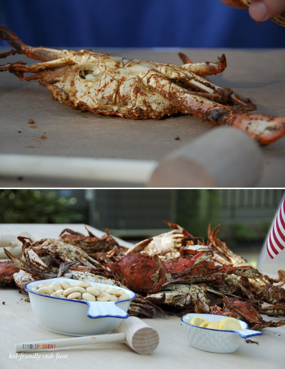 Kid-Friendly Crab Feast - (cool) progeny