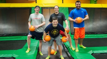 Dad's Night Out Dodgeball at Rockin' Jump - (cool) progeny