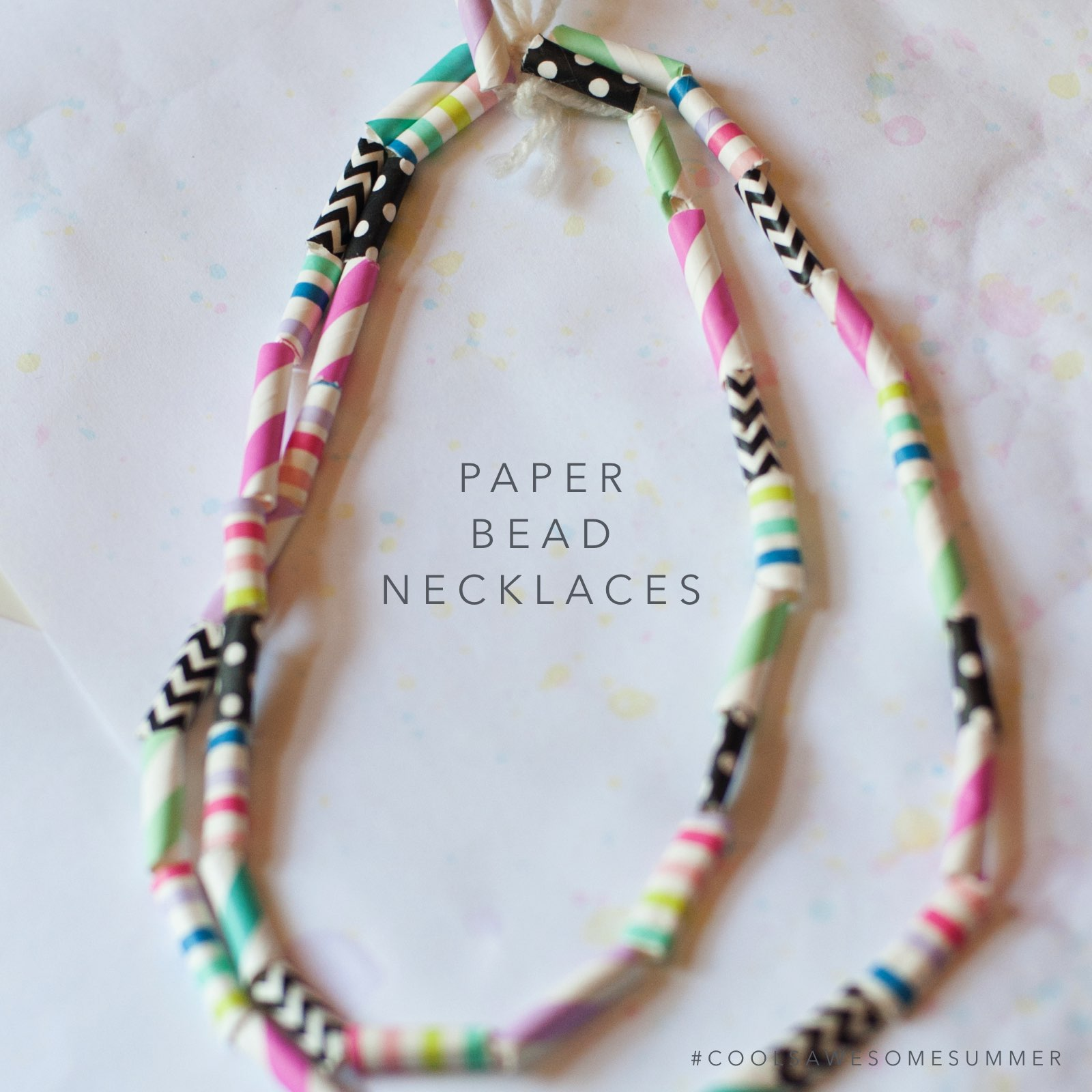 paper beads jewelry Paper beads are easy to make and will only cost you pennies, not to mention  make a fashionable colour block necklace for any little girl.
