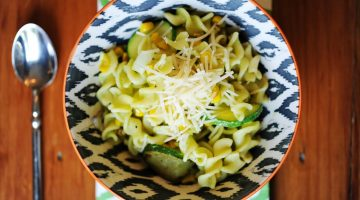 Summer Corn Zucchini Pesto Pasta - (cool) progeny