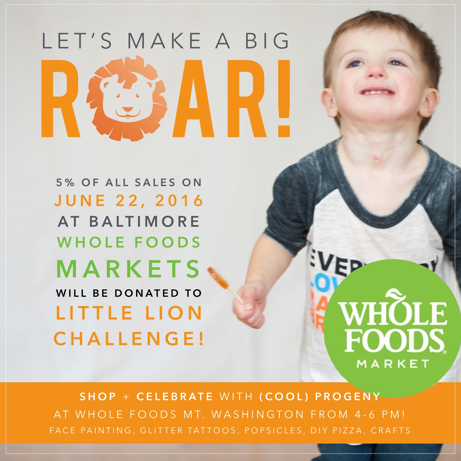 5% Day and Family Fun Fest at Whole Foods! - (cool) progeny