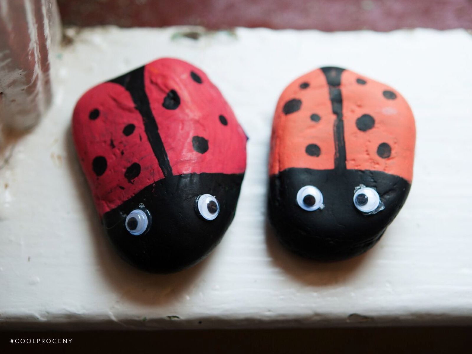 summer crafts: ladybug rocks - (cool) progeny