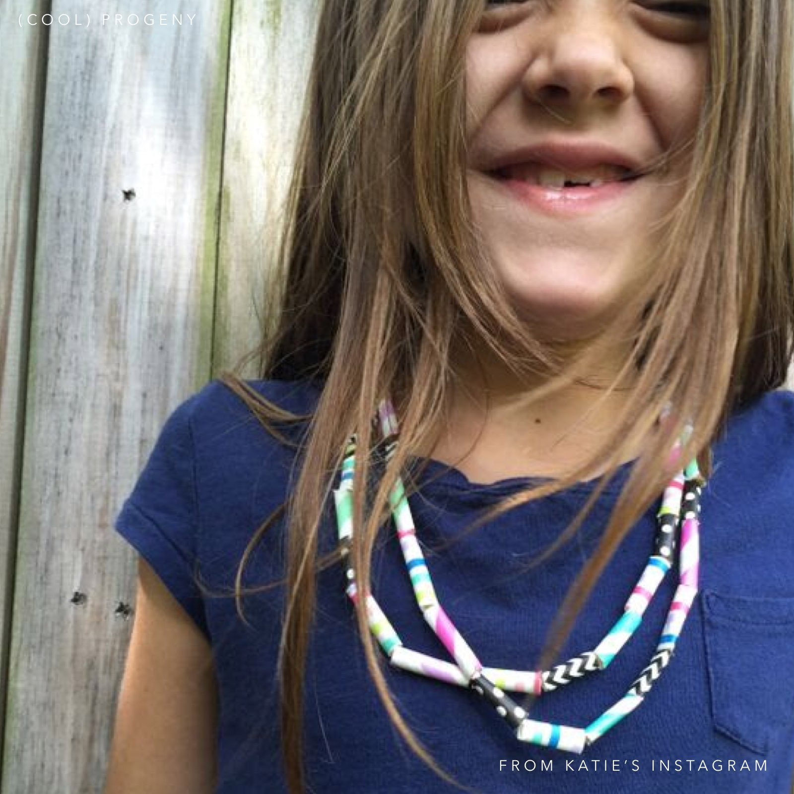 Paper Bead Necklace - (cool) progeny
