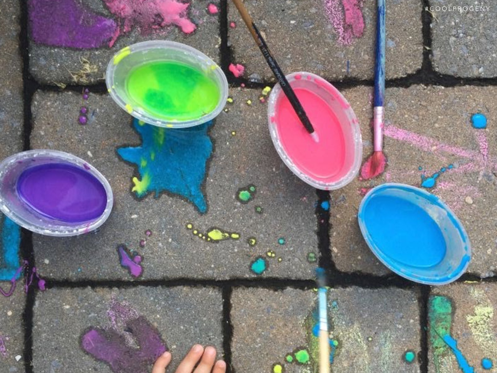 summer arts and crafts: sidewalk paint! - (cool) progeny