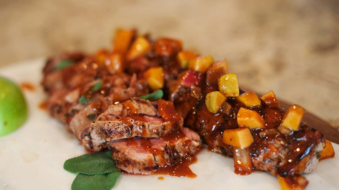 pork tenderloin with apple bacon bbq sauce - (cool) progeny