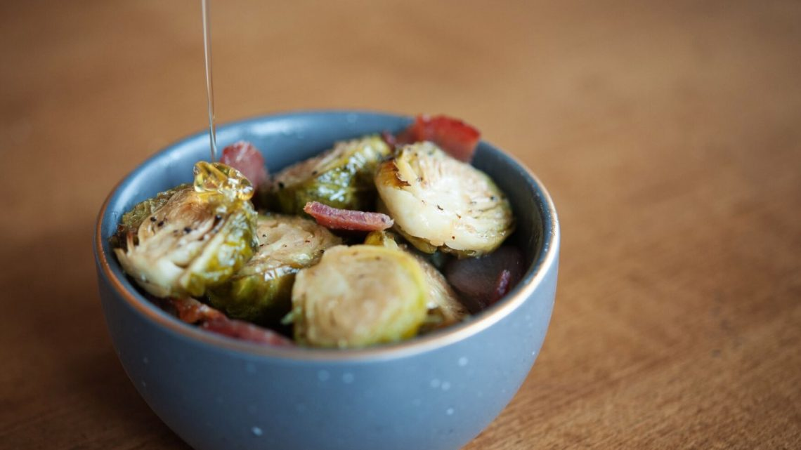 roasted brussels sprouts with brown sugar bacon - (cool) progeny