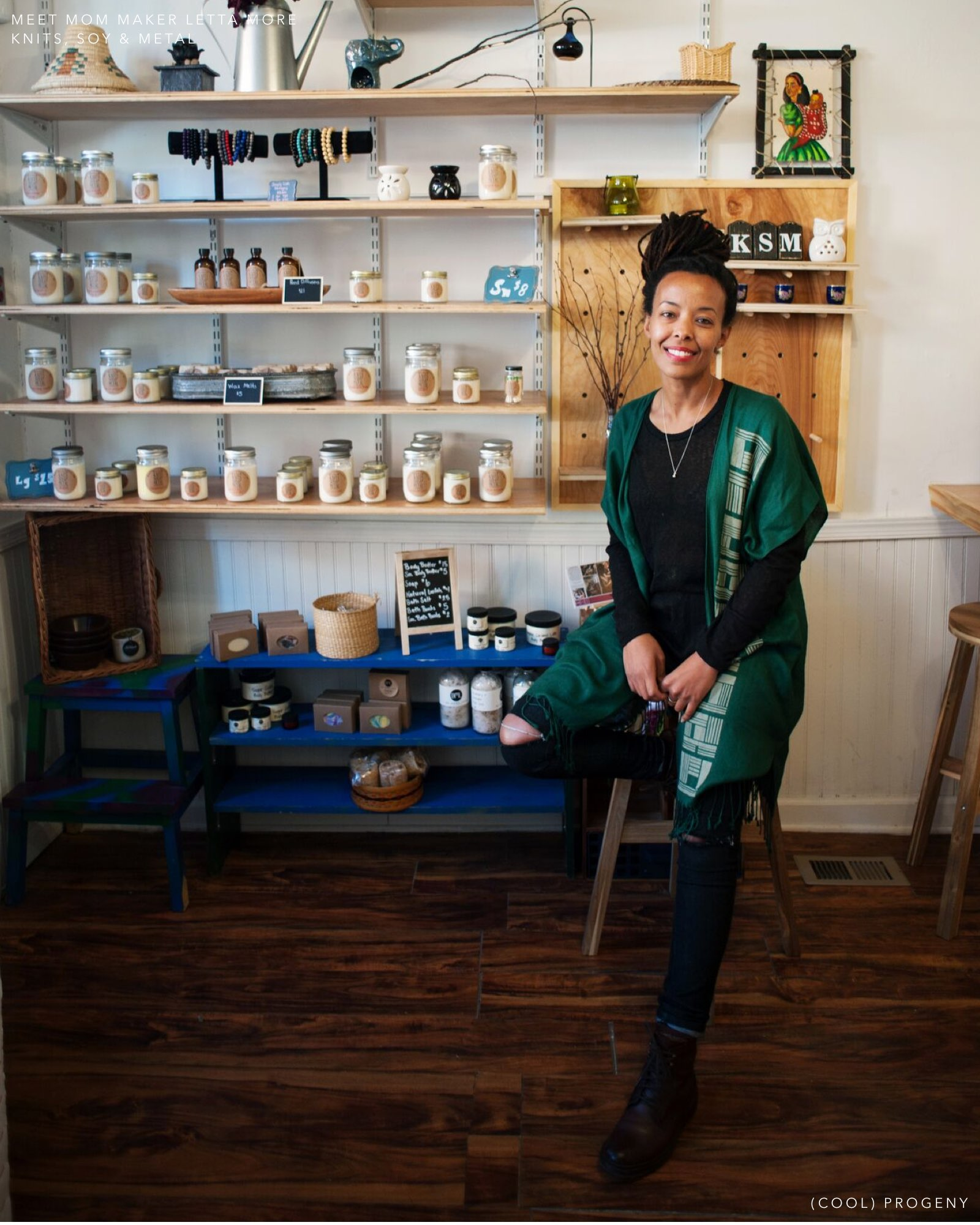 Meet the Mom Maker - Letta Moore of Knits, Soy & Metal - (cool) progeny