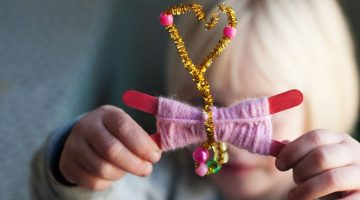 make it: yarn butterfly craft - (cool) progeny