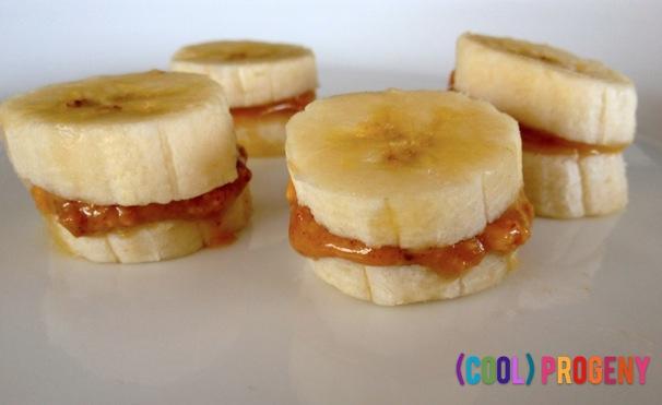Healthy Snacks: Mini Banana Sandwiches