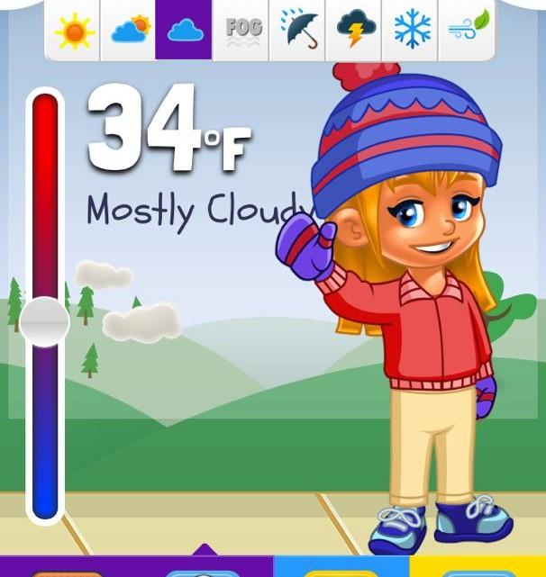 Kid Weather App - (cool) progeny