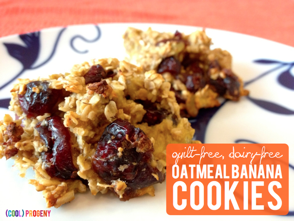 Dairy Free Oatmeal Banana Cookies - (cool) progeny