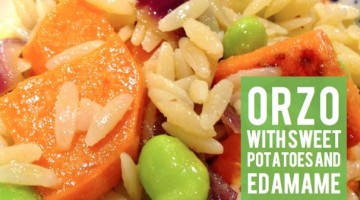Orzo with Sweet Potatoes and Edamame - (cool) progeny