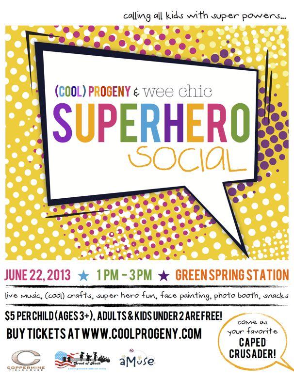 Superhero Social - (cool) progeny